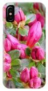 Crimson Azalea Buds IPhone Case