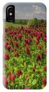 Crimson Clover Patch IPhone Case