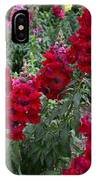 Crimson Snapdragons IPhone Case