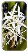 Crinum Spiderlily Flower IPhone Case