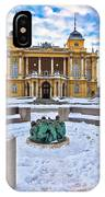 Croatian National Theater In Zagreb Winter View IPhone Case