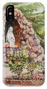 Crockett California Saint Rose Of Lima Church Grotto IPhone Case