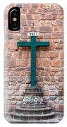 Cross And Cusco Cathedreal IPhone Case