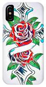 Cross And Roses Tattoo IPhone Case