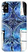 Cross In Blue IPhone Case