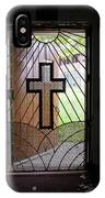 Cross On Church Door Open To Prison Yard IPhone Case