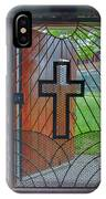 Cross On Church Door Open To Prison Yard With Light IPhone Case