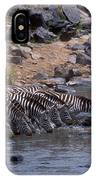 Crossing The Mara River IPhone Case