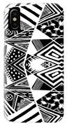 Crossroads To Ornamental - Abstract Black And White Graphic Drawing IPhone Case