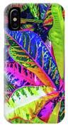 Croton Foliage IPhone Case