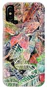 Croton Tropical Art Print IPhone Case