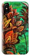 Crotons 5 IPhone Case