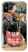 Crow Hopping Saddle Bronc IPhone Case