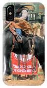 Crow Hopping Saddle Bronc IPhone Case