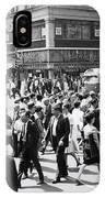 Crowded Street, Nyc, C.1960s IPhone Case