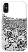 Crowds At Coney Island Beach IPhone Case