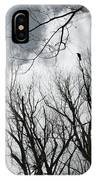 Crows In Cottonwoods IPhone Case