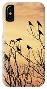 Crows In Their Twitter Cloud. IPhone Case