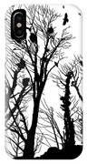Crows Roost 1 - Black And White IPhone Case