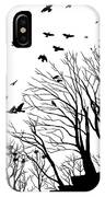 Crows Roost 2 - Black And White IPhone Case