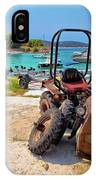 Crushed Tractor By The Sea On Island Prvic IPhone Case