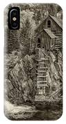 Crystal Mill Marble Colorado Sepia Dsc06944 IPhone Case