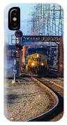 Csx Coming Towards Bound Brook Station IPhone Case