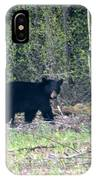 Curious Black Bear  IPhone Case