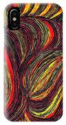 Curved Lines 3 IPhone Case