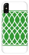 Curved Trellis With Border In Dublin Green IPhone Case