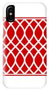 Curved Trellis With Border In Red IPhone Case