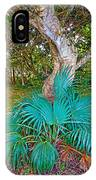 Curves And Fronds IPhone Case