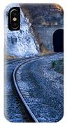 Curves On The Railways At The Entrance Of The Tunnel IPhone Case