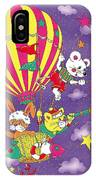 Cute Animals In Air Balloon IPhone Case