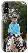 Cute Girl On Horse 3 IPhone Case