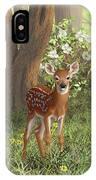 Cute Whitetail Fawn IPhone X Case