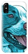 Cyan Bull Fractal Pop Art - 7773 - F - Wb IPhone Case