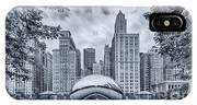 Cyanotype Anish Kapoor Cloud Gate The Bean At Millenium Park - Chicago Illinois IPhone Case