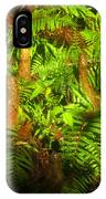 Cypress Knees In Ferns IPhone Case