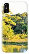 Cypress Trees Along The Guadalupe IPhone Case