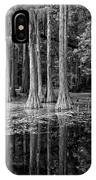 Cypresses In Tallahassee Black And White IPhone Case