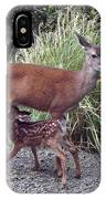 D2b6314 Fawn And Deer Mom IPhone Case