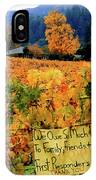 D8b6314 Autumn At Jack London Vinyard With Thanks To Firefighters Ca IPhone Case