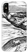 Daedalus Escaping From Crete With His Son, Icarus, Sees Him Falling To His Death IPhone Case