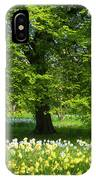 Daffodils And Narcissus Under Tree IPhone Case