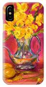 Daffodils And Teapot IPhone X Case