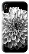 Dahlia  Flower Black And White Square IPhone Case