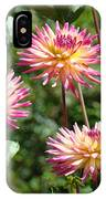 Dahlia Garden Floral Pink Yellow Botanical Landscape Baslee Troutman IPhone Case