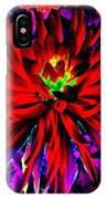 Dahlia Rouge Texture Avec La Frontiere  IPhone Case