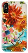 Dahlias In A Painted Cup IPhone Case